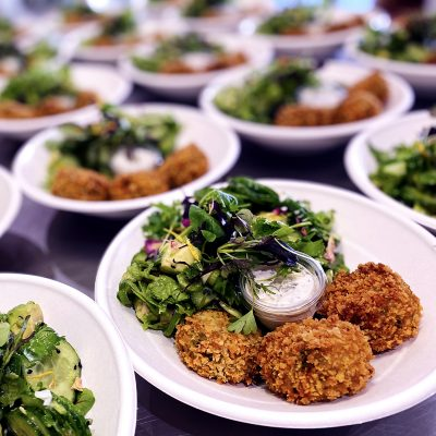 pea croquettes served on plates