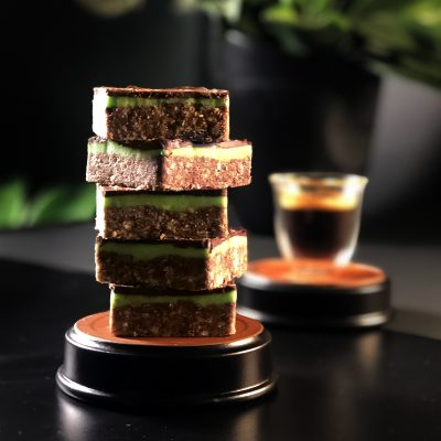 peppermint slices placed on top of one another